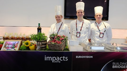Teil des Impacts Catering Teams vor Ort