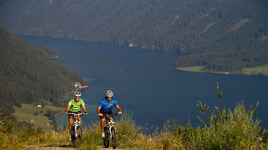 Mountainbiken am Weissensee